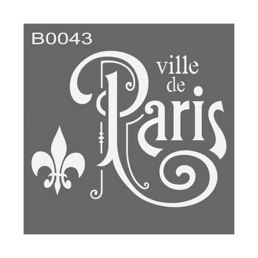Stencil 30x30cm, Ville de Paris