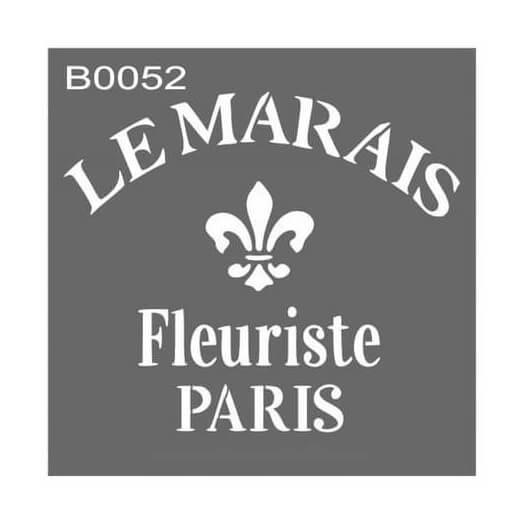 Stencil 30x30cm, Fleuriste Paris