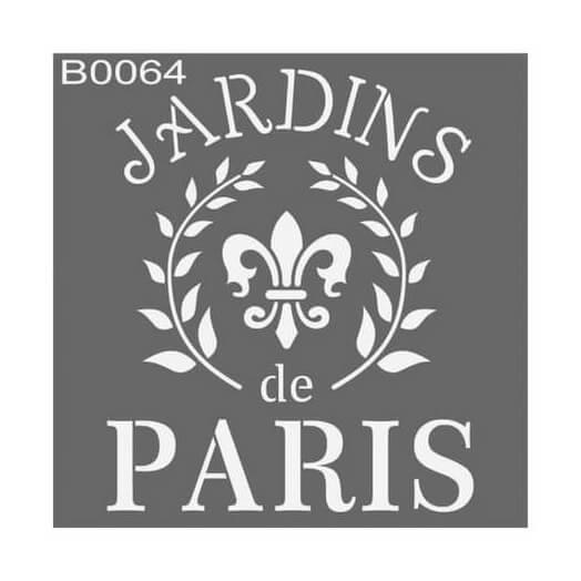 Stencil 30x30cm, Jardins de Paris