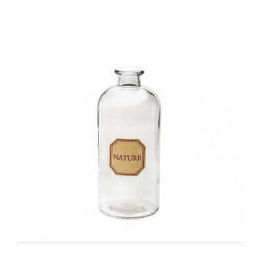 Μπουκάλι γυάλινο Nature Grey 11x25cm