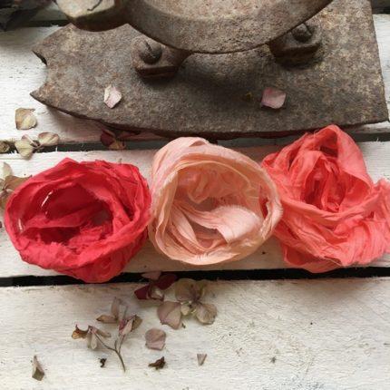 Κορδέλες vintage, Old Rose set, 3 τεμ