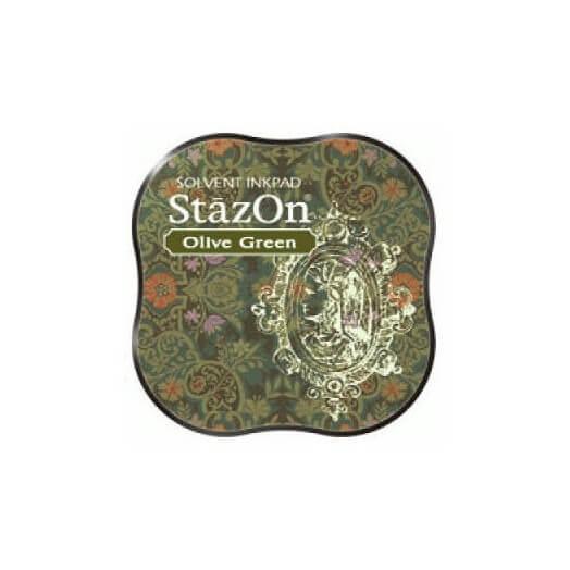Μελάνι Ανεξίτηλο για σφραγίδες, Stazon Olive Green