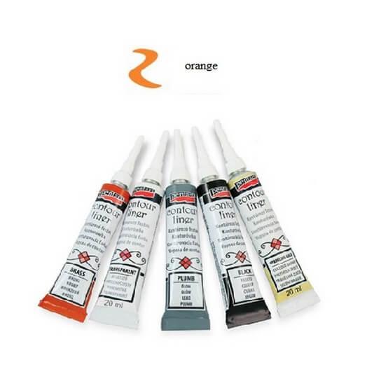 Contour Liner Pentart 20ml - Orange