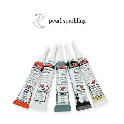 Contour Liner Pentart 20ml - Pearl Sparkling