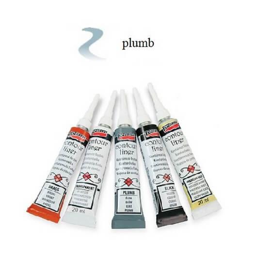 Contour Liner Pentart 20ml - Plumb