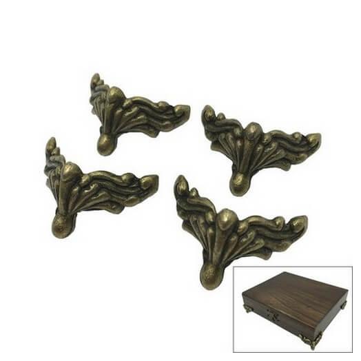 Ποδαράκια μεταλλικά antique για κουτιά 36x25mm - σετ 4 τεμ