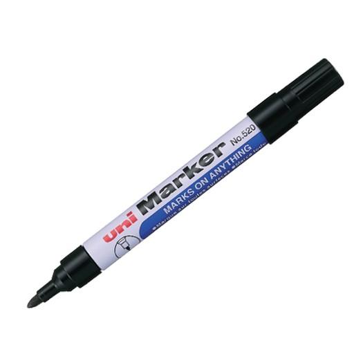 Μαρκαδόρος Uni Marker 520F Μαύρο