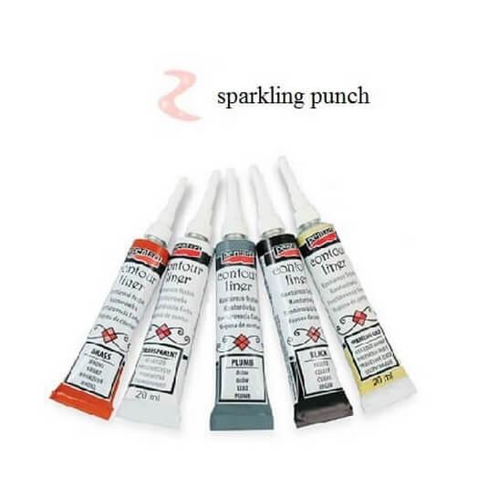 Contour Liner Pentart 20ml - Sparkling Punch