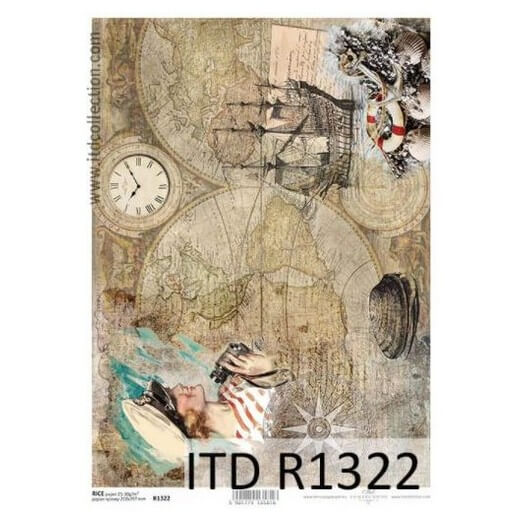 Ριζόχαρτο ITD, 21x29cm, Ταξίδι άλλης εποχής, R1322