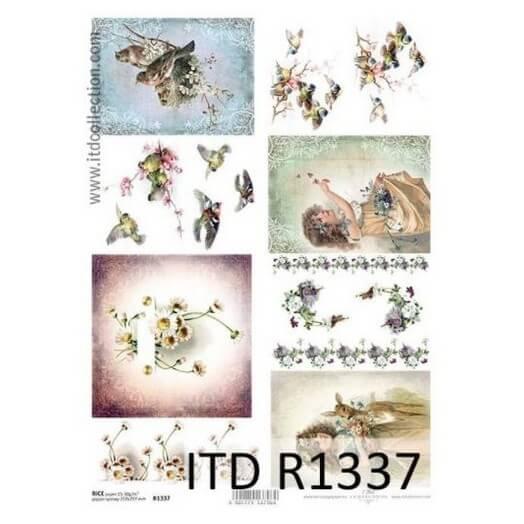 Ριζόχαρτο ITD, 21x29cm, Ανοιξιάτικες εικόνες, R1337