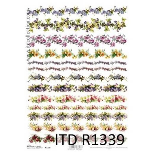 Ριζόχαρτο ITD, 21x29cm, Μίνι λουλουδάκια, R1339