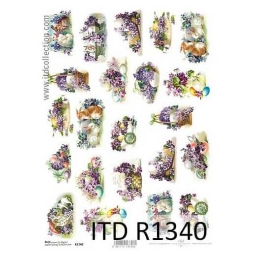 Ριζόχαρτο ITD, 21x29cm, Μίνι πασχαλινές φιγούρες, R1340