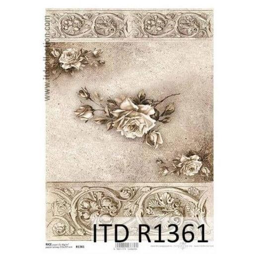 Ριζόχαρτο ITD, 21x29cm, Λευκό Τριαντάφυλλο, R1361