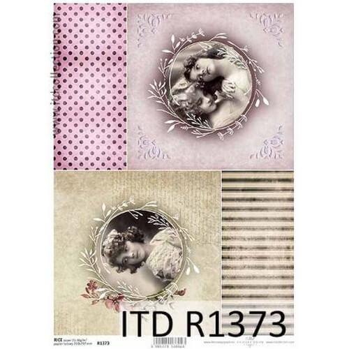 Ριζόχαρτο ITD, Vintage κυρίες, 21x29cm, R1373
