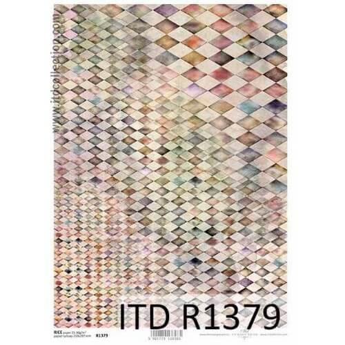 Ριζόχαρτο ITD, Ταπετσαρία με ρόμβους, 21x29cm, R1379