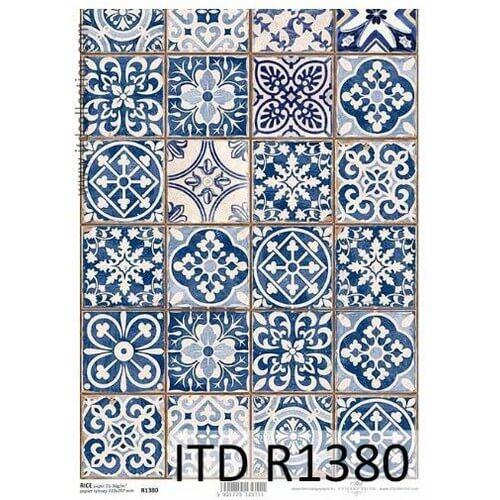 Ριζόχαρτο ITD, Πορτογαλικά πλακάκια, 21x29cm, R1380