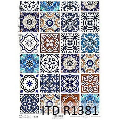Ριζόχαρτο ITD, Πορτογαλικά πλακάκια, 21x29cm, R1381