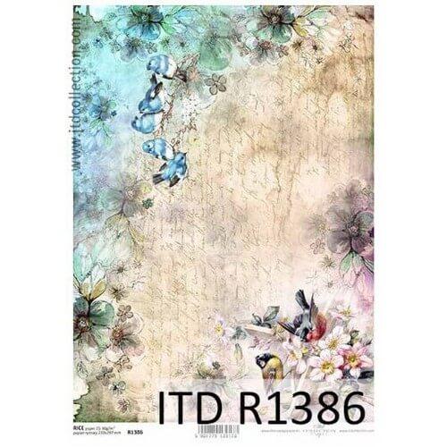 Ριζόχαρτο ITD, Πουλάκια, 21x29cm, R1386