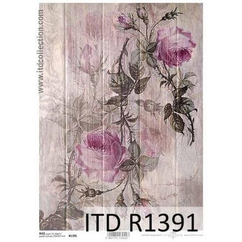 Ριζόχαρτο ITD, Τριαντάφυλλα, 21x29cm, R1391