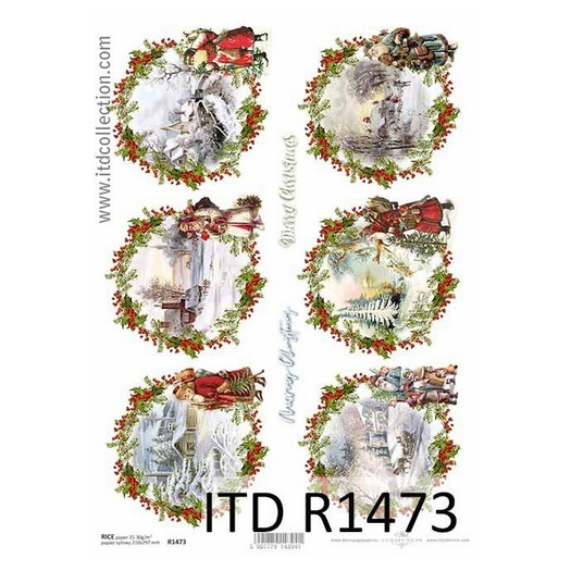 Ριζόχαρτο ITD Χριστουγεννιάτικα Τοπία, 21x29cm, R1473