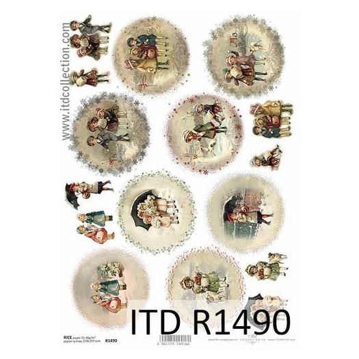 Ριζόχαρτο ITD Χριστουγεννιάτικο, Κάλαντα, 21x29cm, R1490