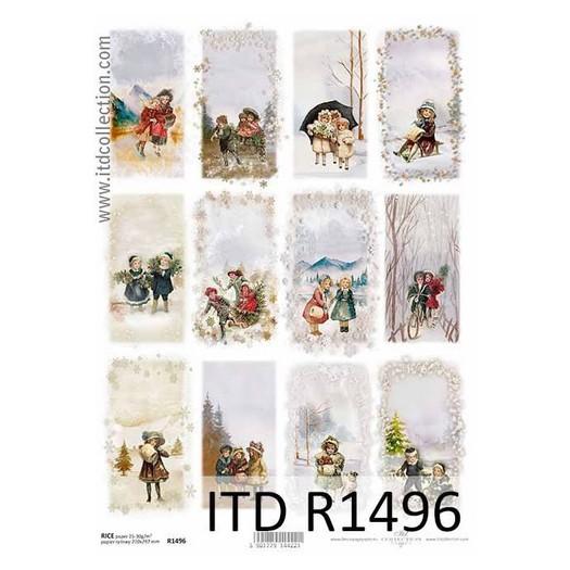 Ριζόχαρτο ITD Χριστουγεννιάτικη παρέα, 21x29cm, R1496