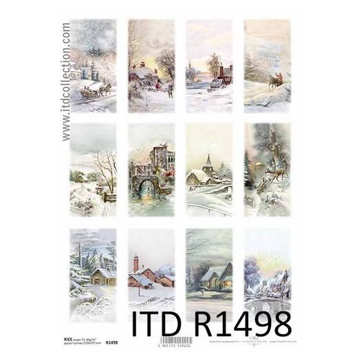 Ριζόχαρτο ITD Χριστουγεννιάτικα Τοπία, 21x29cm, R1498
