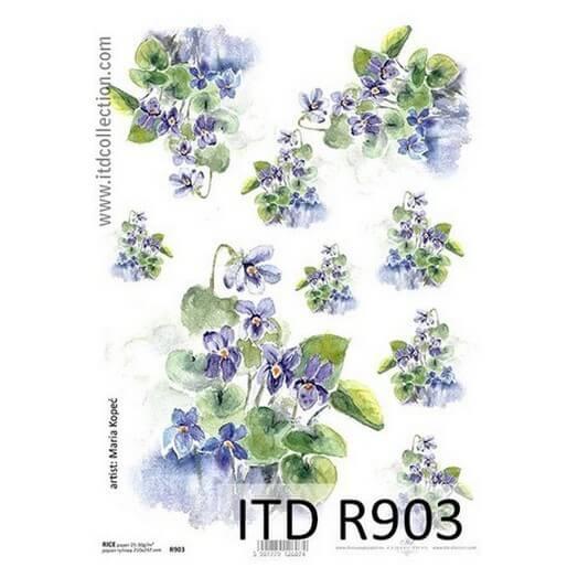 Ριζόχαρτο ITD, 21x29cm, Λουλούδια R903