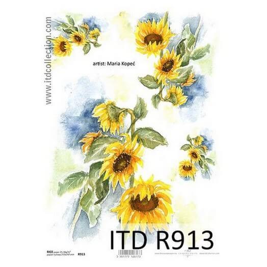 Ριζόχαρτο ITD, Ήλιοι, 21x29cm