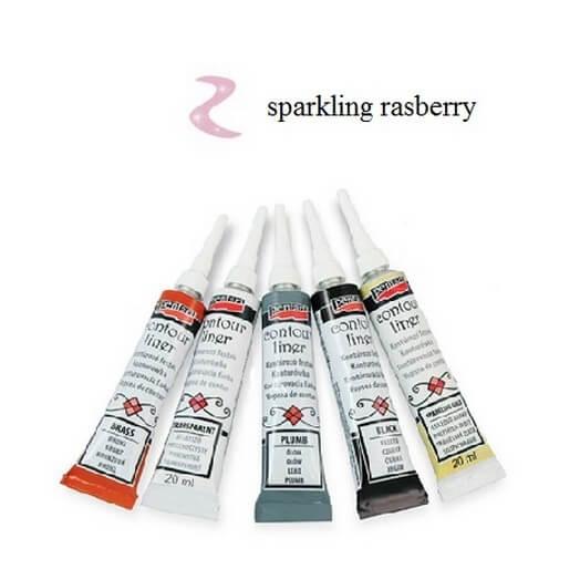 Contour Liner Pentart 20ml - Sparkling Rasberry