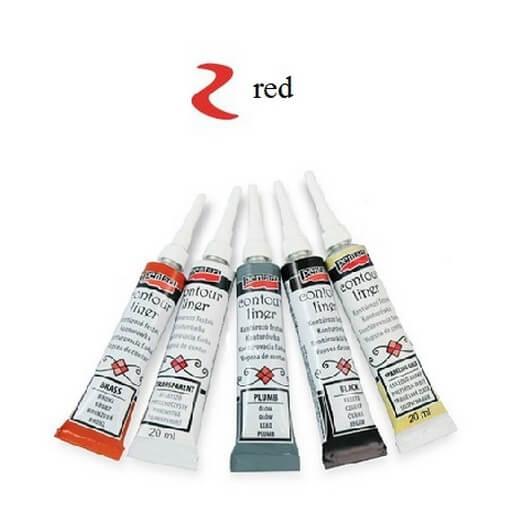 Contour Liner Pentart 20ml - Red