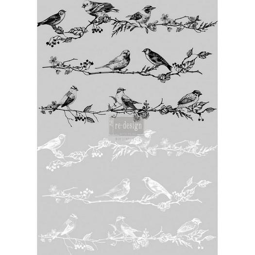 Χαρτί Decor Transfer Prima Re-Design, Birds and berries, 61x86cm