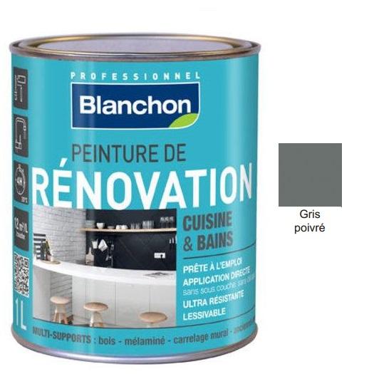 Χρώμα Renovation Blanchon, Γκρι πιπέρι (Gris poivre), 500ml