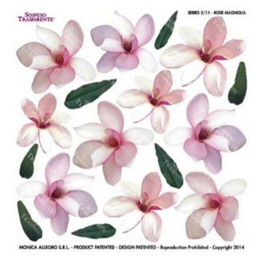 Τυπωμένo φύλλο-Ζελατίνη για Sospeso STS2.11, Rose magnolia