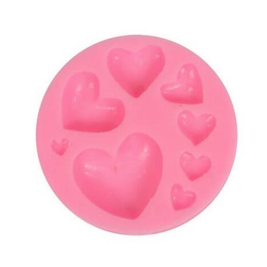 Καλούπι σιλικόνης Hearts 7.5x1.3cm