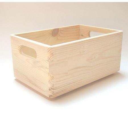 Μπαούλο ξύλινο στοιβάσιμο 30x20x15cm