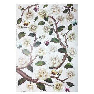 Χαρτί για Decoupage και Sospeso, Rose 35x50cm