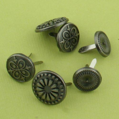 Διπλόκαρφα Αντικέ Silver 14-16mm, 30 τεμ