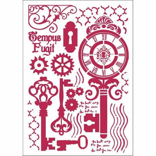 Stencil 21x29,7cm, Keys and locks, Stamperia