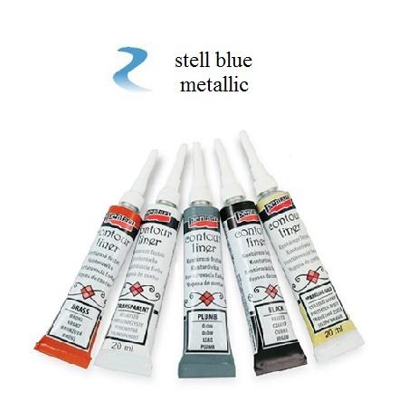 Contour Liner Pentart 20ml - Steel Blue Metallic