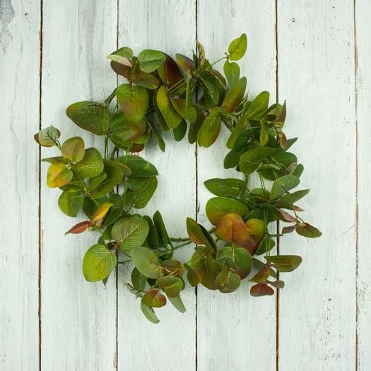 Στεφάνι με πράσινα φύλλα, 25cm
