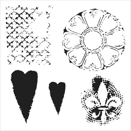 Μάσκα Stencil, Gothic Romance 30,5x30,5cm