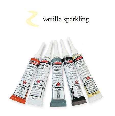 Contour Liner Pentart 20ml - Vanilla Sparkling