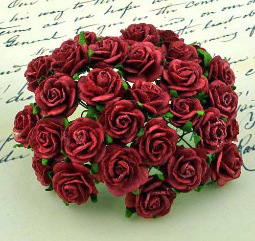 Λουλούδια τριαντάφυλλα DEEP RED, 20mm