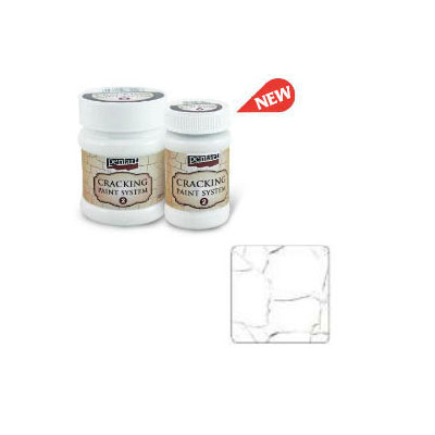 Cracking Paint System Step 2, Pentart 100ml , White