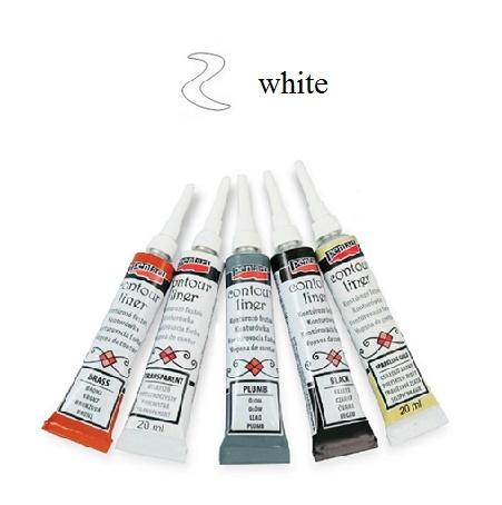 Contour Liner Pentart 20ml - White