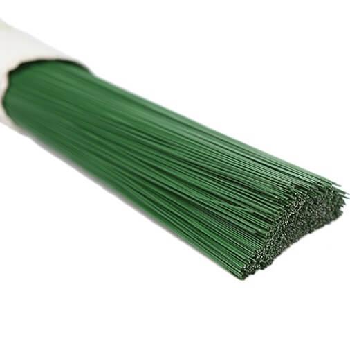 Stub wire, συρματάκια για κατασκευές, Green, 60 τεμ