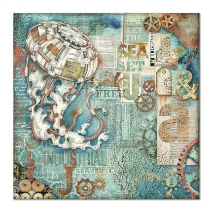 Χαρτιά scrapbooking 10τεμ, Sea World