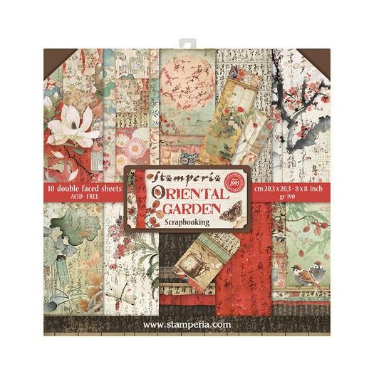 Χαρτιά scrapbooking 10τεμ Stamperia 20,3×20,3cm, Oriental Garden