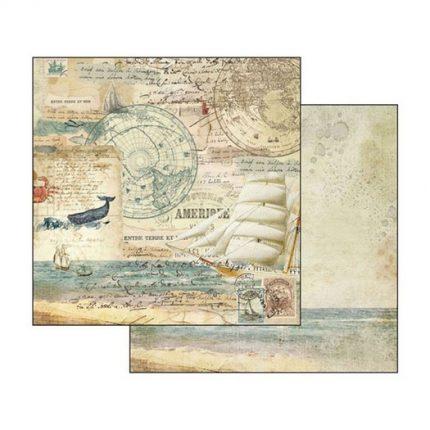 Χαρτιά scrapbooking 10τεμ Stamperia 20,3×20,3cm, Around the World